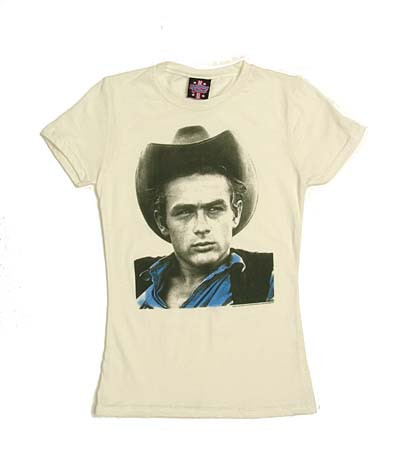 James Dean Cowboy Vintage Style Juniors Tee Shirt