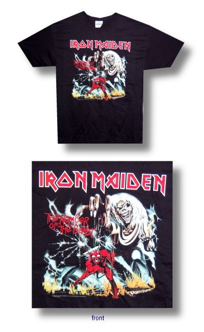 Iron Maiden Number of the Beast Mens Tee Shirt