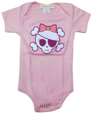Girly Skull & Crossbones Infant One Piece