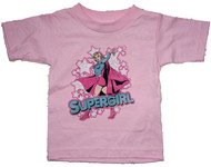 Im Supergirl Toddler Tee Shirt in Pink