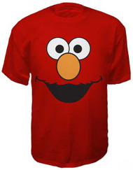 Sesame Street Elmo Face Mens Tee Shirt