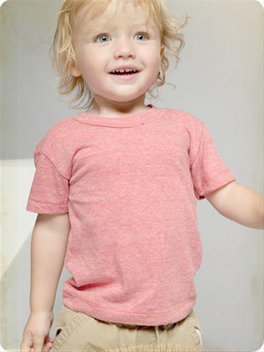 Alternative Apparel Eco Heather Eco Red Toddler Tee Shirt