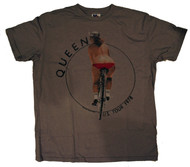 Mens Queen 1978 Tour Photo Tee Shirt in Gray By Junk Food Clothing