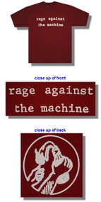 Rage Against The Machine Molotov Maroon Tee Shirt