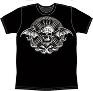 Avenged Sevenfold Bullet Skull Mens Tee Shirt
