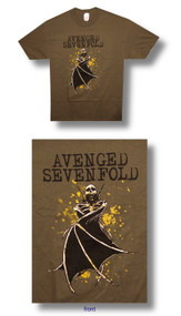 Avenged Sevenfold Bat Wings Mens Tee Shirt