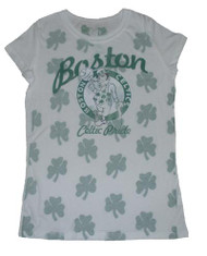 Boston Celtics Pride Vintage Style Womens T Shirt by Doe Mighty Fine