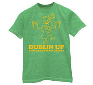 Dublin Up Two Hands Two Drinks Vintage Mens Tee Shirt