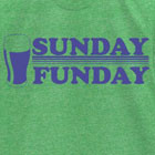 Sunday Funday Vintage Mens Tee Shirt