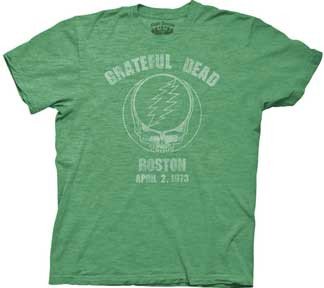 Grateful Dead Boston 1973 Vintage Style Mens T Shirt