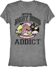 Official Angry Birds Addict Womens Tee Shirt
