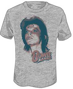 David Bowie Star Mens Vintage Style Tee Shirt