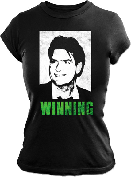 Charlie Sheen Winning Womens Tee Shirt
