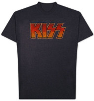 Kiss Vintage Logo Mens T Shirt