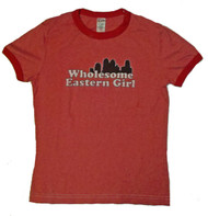 Wholesome Eastern Girl Red Juniors Shirt