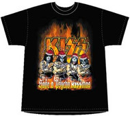 Kiss Have A Psycho Kissmas Mens T Shirt