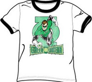 Green Lantern In Brightest Day Ringer Mens T Shirt
