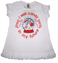 I See Candy in My Future Vintage Style Kids Dress