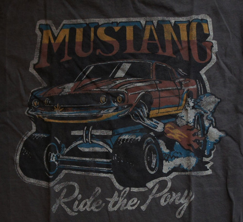 Mens Ford Mustang Ride the Pony Tee Shirt by Junk Food Clothing