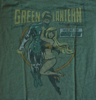 Mens Green Lantern Tee Shirt by Junk Food Clothing in Cactus