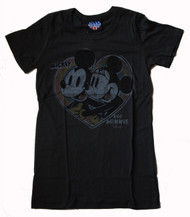 Mickey and Minnie Mouse Heart Womens Tee Shirt by Junk Food Clothing