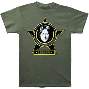John Lennon Dont Want to Be a Soldier Mens Tee Shirt
