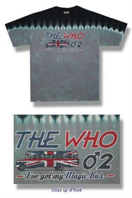The Who Magic Bus Tie Dye Mens Tee Shirt