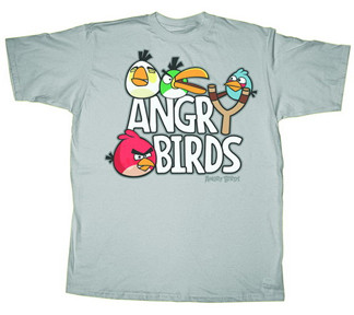 Angry Birds Sling Shot Mens Tee Shirt