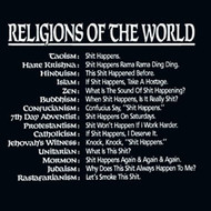 Religions of the World Mens Tee Shirt