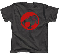 Thundercats Distressed Logo Charcoal Mens Tee Shirt
