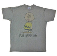 Mens Junk Food Charlie Brown Duh Winning Tee Shirt
