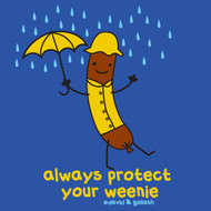 Always Protect Your Weenie Mens Vintage Style Tee Shirt