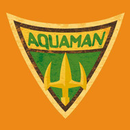 DC Comics Aquaman Distressed Shield Toddler Tee Shirt