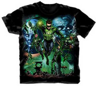 Green Lantern Movie Montage Mens Tee Shirt