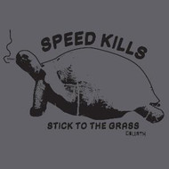 Speed Kills Stick To The Grass Mens Vintage Style Tee Shirt