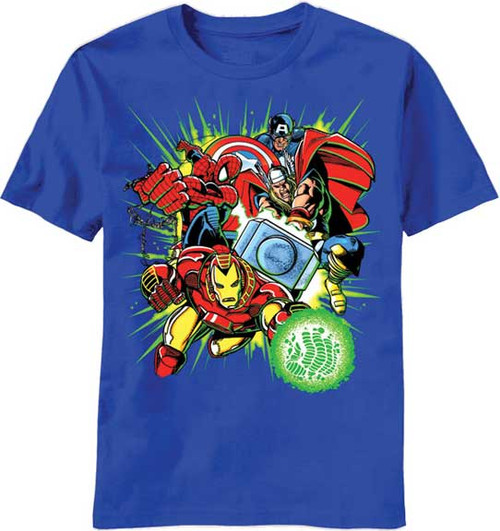 Marvel Team Ups Team Green Boys Tee Shirt