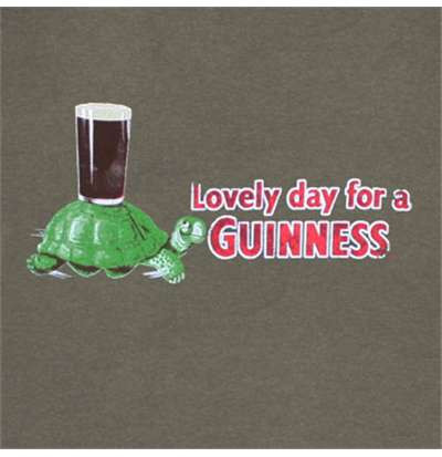 Guinness Turtle Pint Have a Lovely Day Mens Tee Shirt