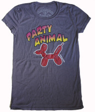 Vintage Style Party Animal Balloon Womens Tee Shirt
