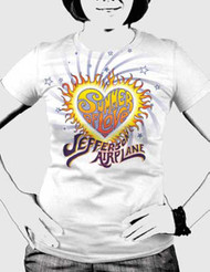 Jefferson Airplane Summer of Love Juniors Tee Shirt