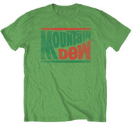Vintage Style Mens Mountain Dew Logo Mens Tee Shirt
