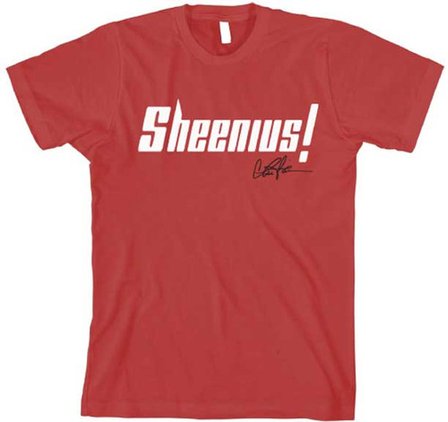 Charlie Sheen Sheenius Mens Tee Shirt