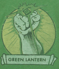 Mens Green Lantern Glowing Ring Tee Shirt by Junk Food Clothing