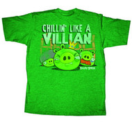 Angry Birds Chillin Like A Villian Mens Tee Shirt