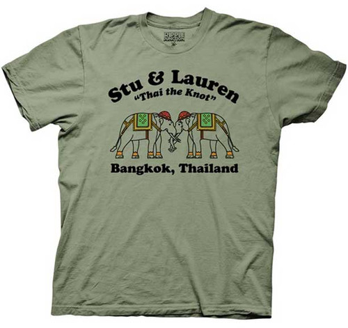 Hangover 2 Stu and Lauren Thai The Knot Adult Tee Shirt