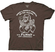 Hangover 2 When A Monkey Nibbles On Adult Tee Shirt