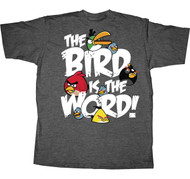 Angry Birds Bird is the Word Mens Tee Shirt