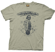 The Big Lebowski Obviously You're Not a Golfer Mens Tee Shirt