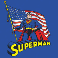 Superman American Flag Toddler Tee Shirt