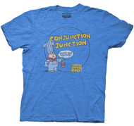 School House Rock Conjunction Junction Vintage Adult Tee Shirt