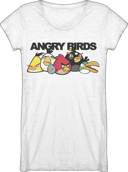 Angry Birds Special Abilities Vintage Burnout Womens Tunic Tee Shirt